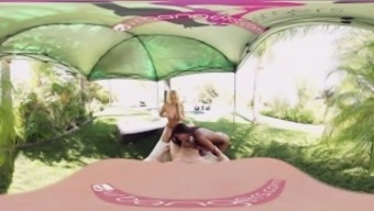 VR Bangers - [360°VR] Alix and Nadia persuade and ride white penis from the swimming pool